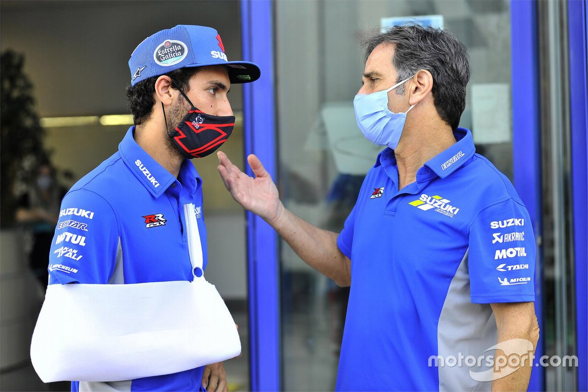 Alex Rins, Team Suzuki MotoGP with injury