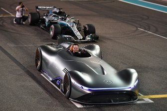 Mercedes-Benz, EQ Silver Arrow concept car and Valtteri Bottas, Mercedes-AMG F1 W09