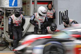 Trabajo del equipo Toyota Gazoo Racing