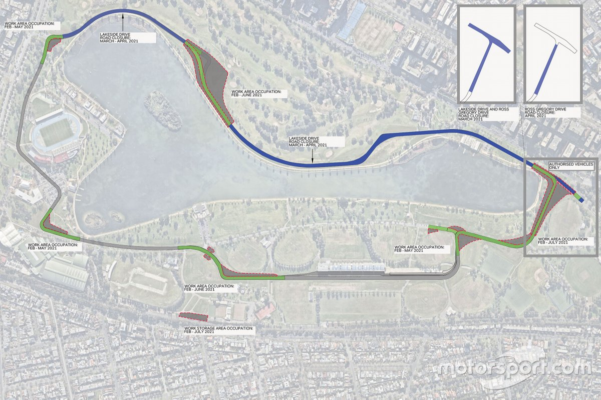 Albert Park, new layout