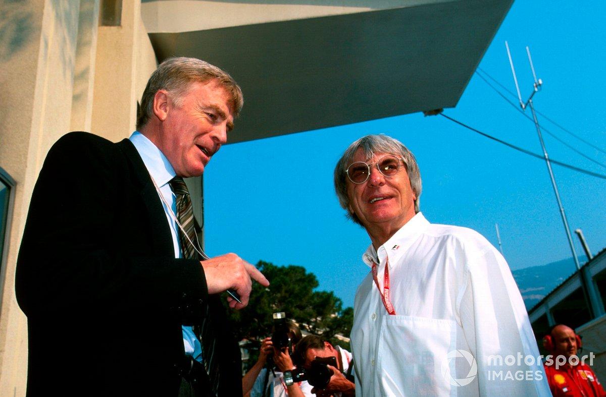 Max Mosley, President of the FIA and Bernie Ecclestone, F1 Supremo