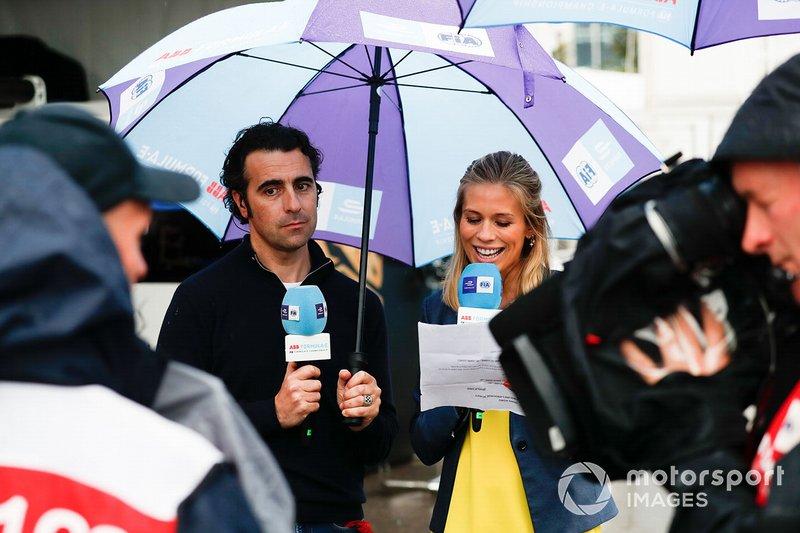 L'opinionista TV Dario Franchitti con la presentatrice TV Nicki Shields