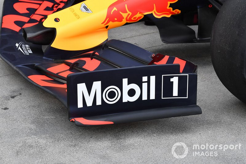 Endplate delantero del Red Bull Racing RB15