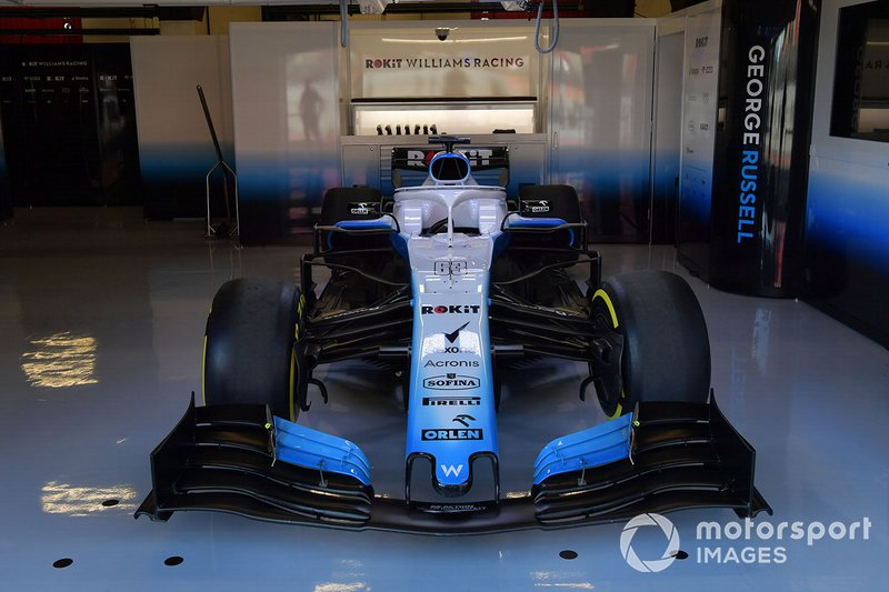 La Williams FW42 dans le garage Williams Racing