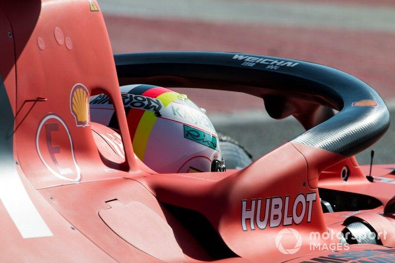 Sebastian Vettel, Ferrari SF90, cockpit detail