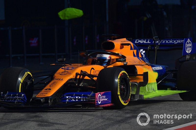 McLaren MCL34 with aero paint