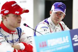 Felix Rosenqvist, Mahindra Racing, Sam Bird, DS Virgin Racing, nella conferenza stampa