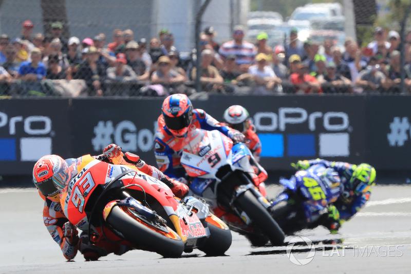 """Marc Márquez: """"Obviamente a corrida foi difícil, porque o ritmo de todos era muito próximo."""""""