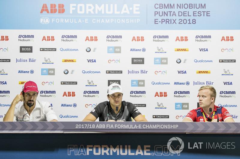 Lucas di Grassi, Audi Sport ABT Schaeffler, Nelson Piquet Jr., Jaguar Racing, Felix Rosenqvist, Mahindra Racing