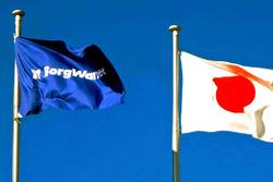 BorgWarner and Japanese flags
