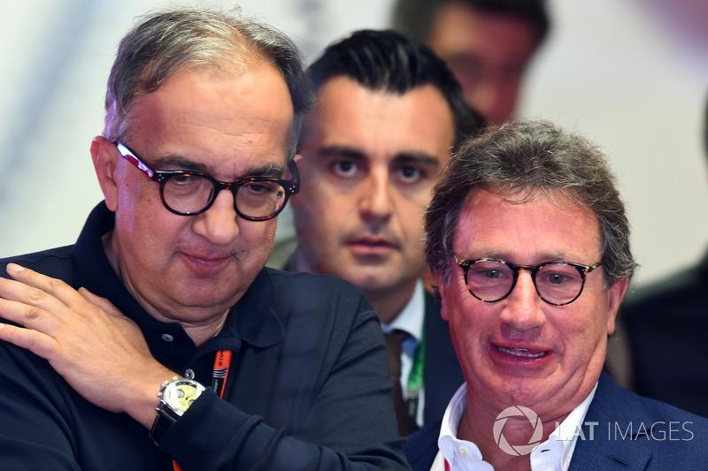 Sergio Marchionne, CEO FIAT, Louis Camilleri, Chairman Philip Morris