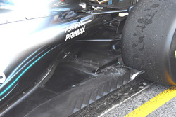 Mercedes-AMG F1 W09 rear sensors detail