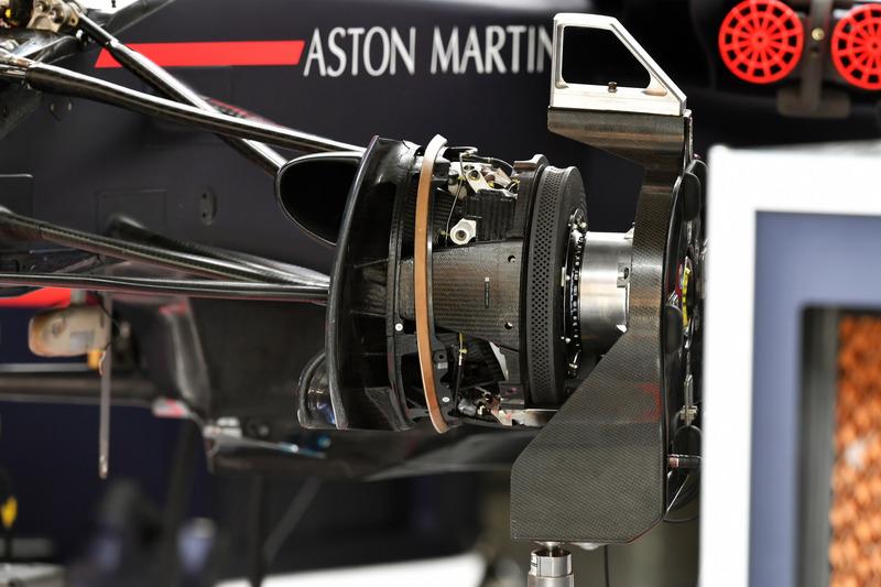 Detalle del buje de rueda Red Bull Racing RB14