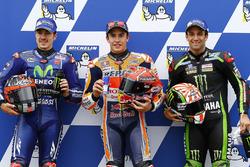 Marc Marquez, Repsol Honda Team, en pole position devant Maverick Viñales, Yamaha Factory Racing, et Johann Zarco, Monster Yamaha Tech 3