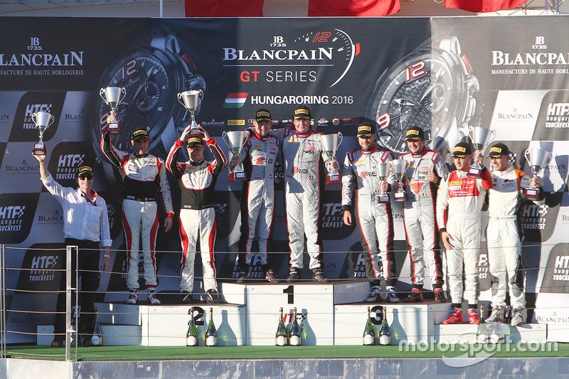 Podio: i vincitori #33 Belgian Audi Club Team WRT Audi R8 LMS: Enzo Ide, Christopher Mies, al secondo posto #88 AKKA ASP Mercedes AMG GT3: Tristan Vautier, Felix Rosenqvist, al terzo posto #1 Belgian Audi Club Team WRT Audi R8 LMS: Frederic Vervisch, Laurens Vanthoor