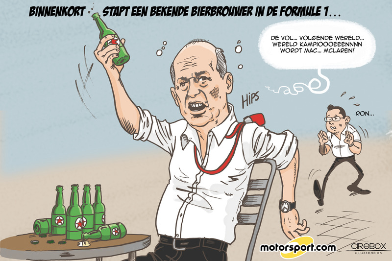 Cartoon van Cirebox - Wat als Heineken in de F1 stapt?
