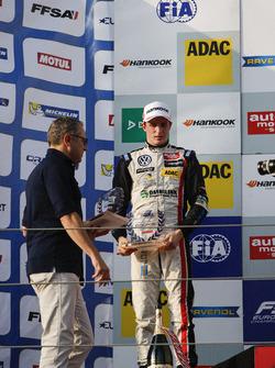 Rookie-Podium: 2. Joel Eriksson, Motopark, Dallara F312, Volkswagen