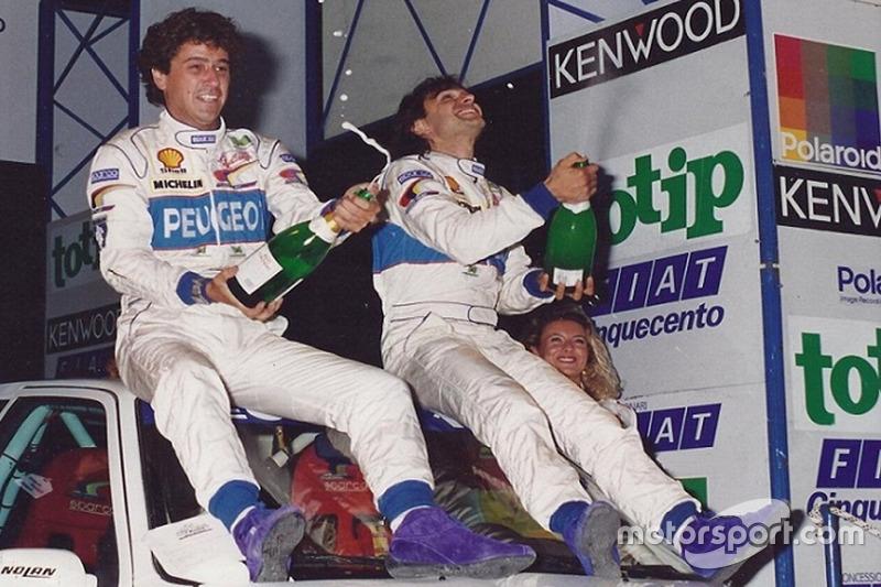 Popi Amati con Paolo Andreucci su Peugeot 106 XSi