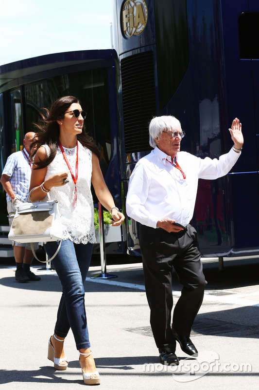 Fabiana Flosi mit Bernie Ecclestone