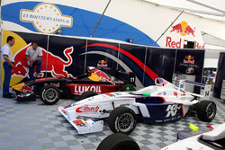 The cars of Michael Lewis and Daniil Kvyat