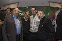 (L to R) José Abed Vice president FIA México; Adrian Férnandez; Ricardo Gonzalez, RGR Sport and  Jean Todt, FIA President