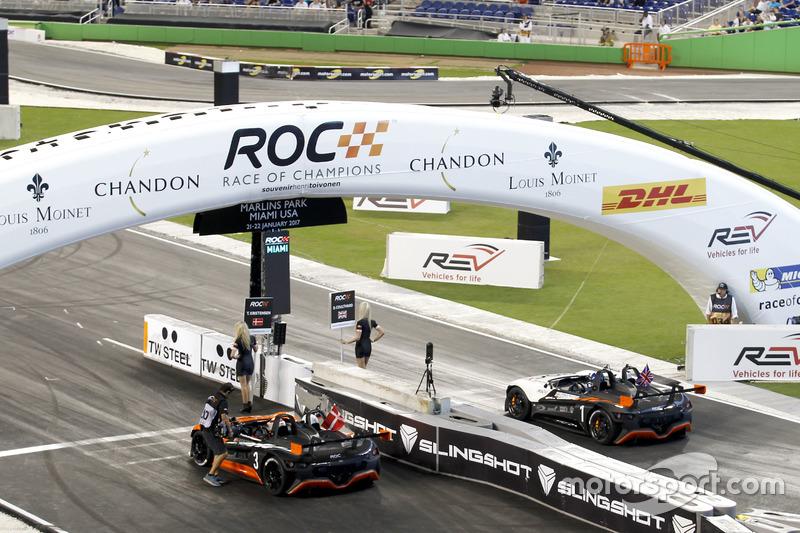Tom Kristensen y David Coulthard en el Vuhl 05 RoC Edition
