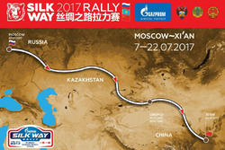 The 2017 Silk Way Rally route map