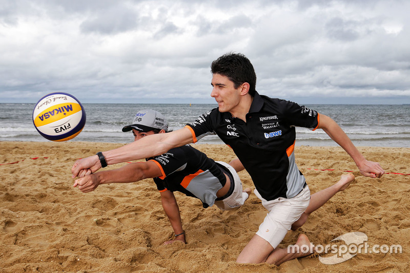 Sergio Perez, Sahara Force India F1 Team; Esteban Ocon, Sahara Force India F1 Team