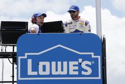 Jimmie Johnson, Hendrick Motorsports, Chevrolet, mit Crewchief Chad Knaus