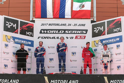 Podium: 1. Egor Orudzhev, SMP Racing by AVF; 2. Matevos Isaakyan, SMP Racing by AVF; 3. Alfonso Celis Jr., Fortec Motorsports