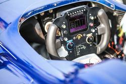 Steering wheel of Colton Herta, Andretti Steinbrenner Racing