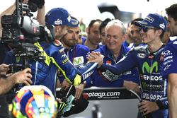 Second place Valentino Rossi, Yamaha Factory Racing, Race winner Maverick Viñales, Yamaha Factory Racing