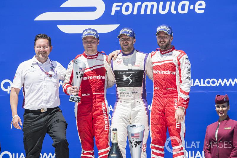 Podium: 1. Sam Bird, DS Virgin Racing; 2. Felix Rosenqvist, Mahindra Racing; 3. Nick Heidfeld, Mahin