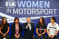 Marta Garcia, Renault Sport F1 Team Sport Academy, Michelle Mouton, Jean Todt, President, FIA, Tatiana Calderon, Sauber en Monisha Kaltenborn, Team Principal en CEO, Sauber