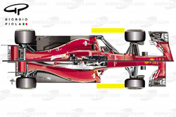 Ferrari SF70H y SF16-H comparación vista superior