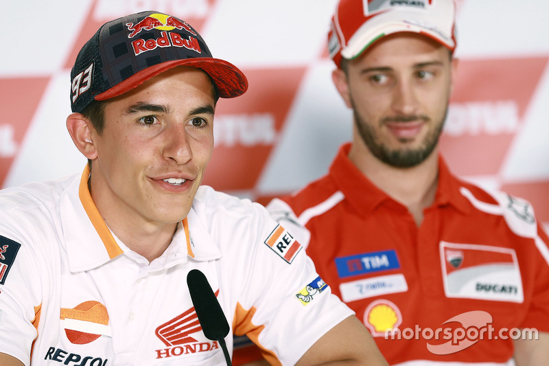 Marc Marquez, Repsol Honda Team; Andrea Dovizioso, Ducati Team