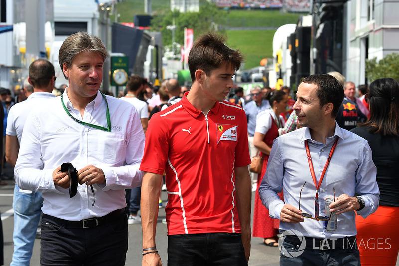 Шарль Леклер, Prema Racing, и менеджер Николя Тодт