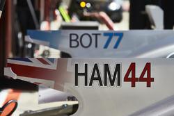 Nuevos gráficos de identificación de pilotos en los coches de Mercedes AMG F1 W08, Valtteri Bottas, Lewis Hamilton, Mercedes