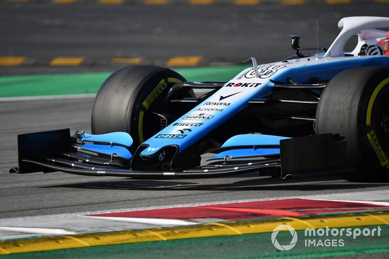 Williams FW42 nariz y alerón frontal