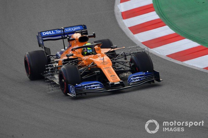 McLaren MCL34 con sensores
