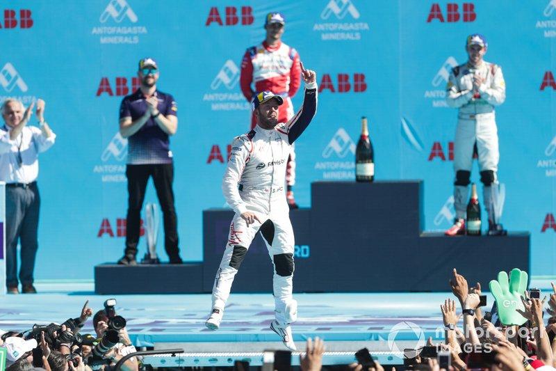 Sam Bird, Envision Virgin Racing, 1st position, celebrates