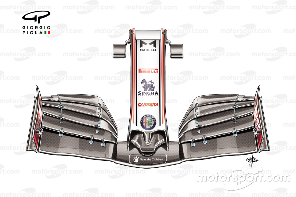 Alfa Romeo Racing C39 front wing nose