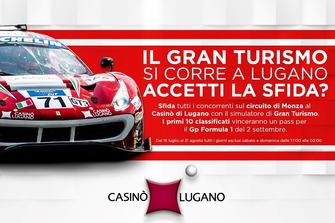 Simulatore Gran Turismo al Casinò Lugano, locandina