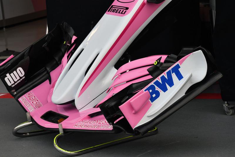 Racing Point Force India VJM11 detalle del ala frontal