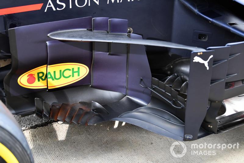 Detalle del bargeboard del Red Bull Racing RB14