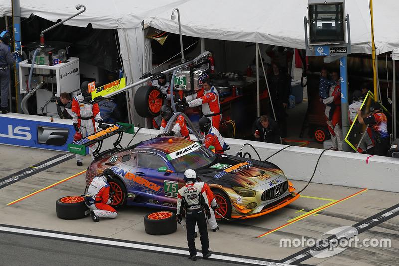 #75 SunEnergy1 Racing Mercedes AMG GT3: Boris Said, Tristan Vautier, Kenny Habul, Maro Engel, pit action