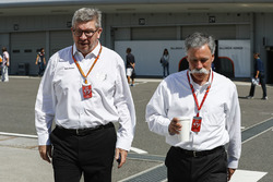 Ross Brawn, Managing Director of Motorsports, FOM, Chase Carey, Chairman, Formula One