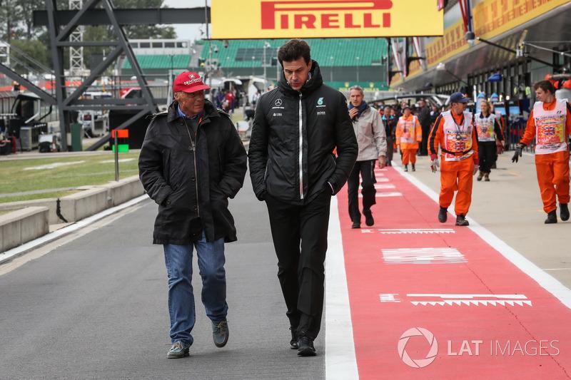 Niki Lauda und Toto Wolff, Mercedes-Motorsportchef