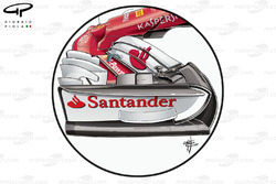 Ferrari SF70H: Frontflügel, GP Großbritannien