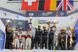 Подіум LMGTE Am : переможці Dempsey Proton Competition, Spirit of Race, Aston Martin Racing